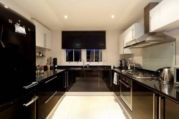 Черно-белая кухня, фото 4