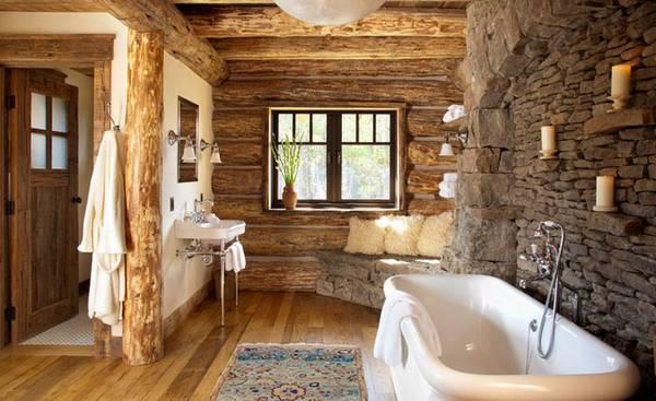 Отделка ванной натуральными материалами, фото 43
