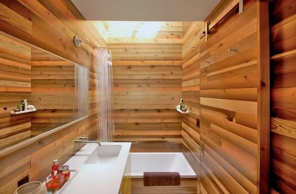 Отделка ванной натуральными материалами, фото 44