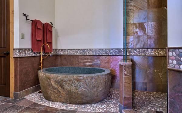 Отделка ванной натуральными материалами, фото 45