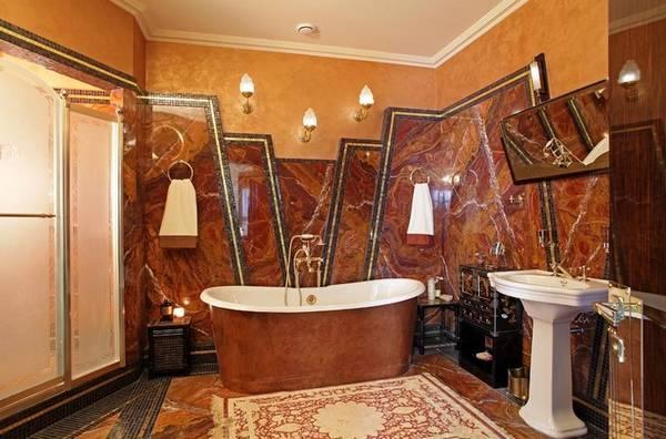 Отделка ванной натуральными материалами, фото 46