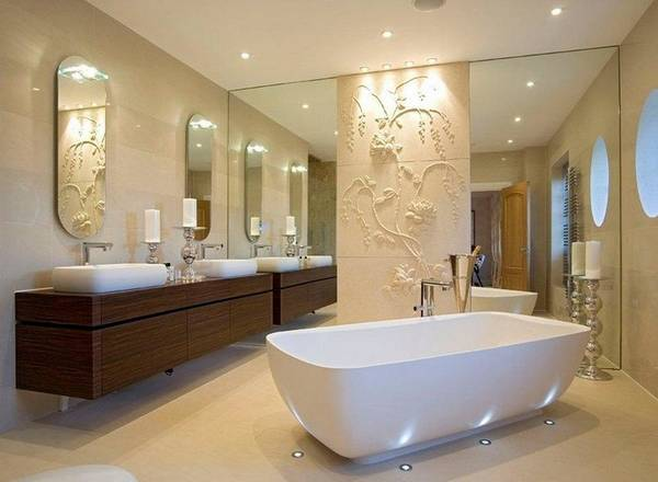 отделка ванной декоративной  штукатуркой, фото 47