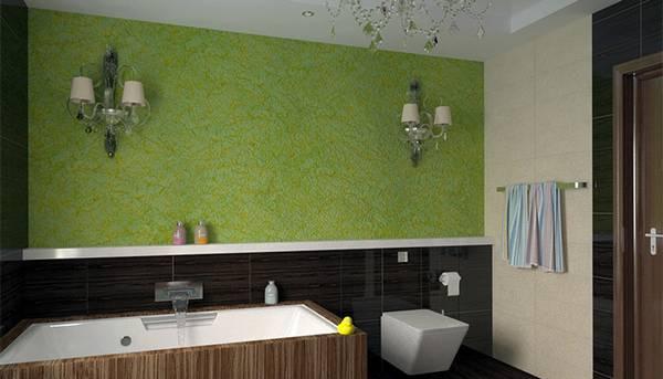отделка ванной декоративной  штукатуркой, фото 48