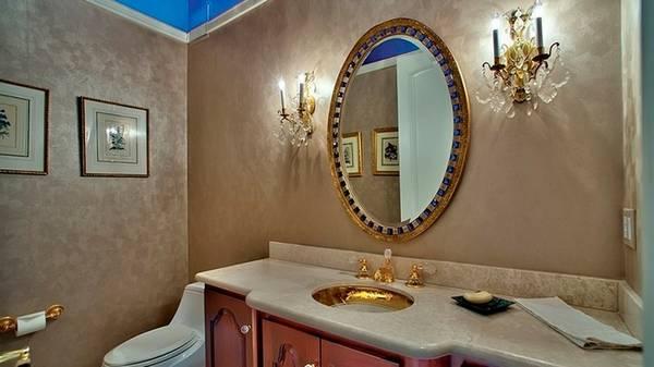 отделка ванной декоративной  штукатуркой, фото 49