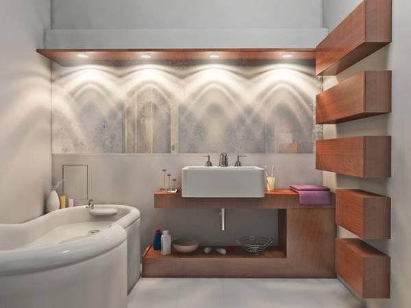 освещение ванной, фото 59