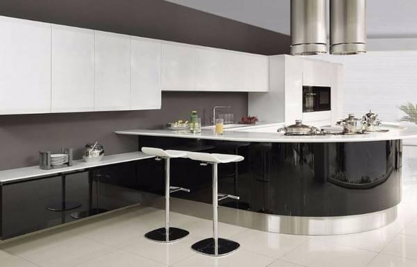 Черно-белая кухня, фото 6