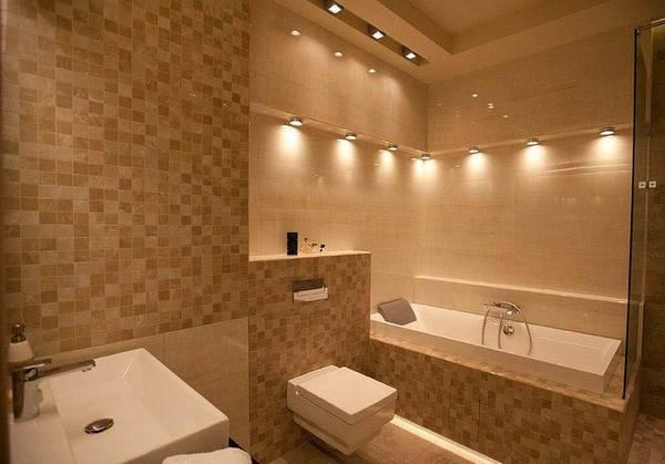 освещение ванной, фото 61