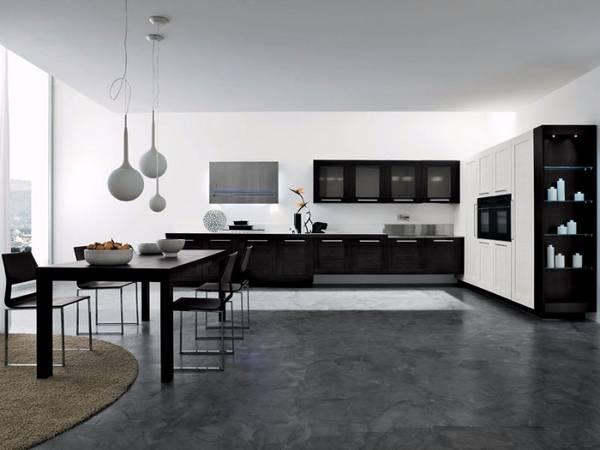 Черно-белая кухня, фото 7