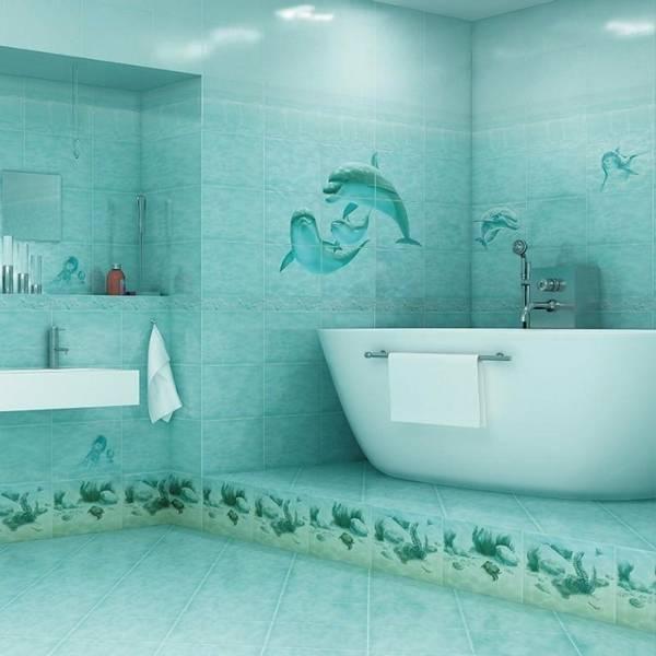 панно из плитки в ванную, фото 13