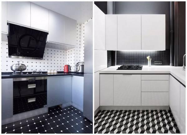 Черно-белая кухня, фото 9