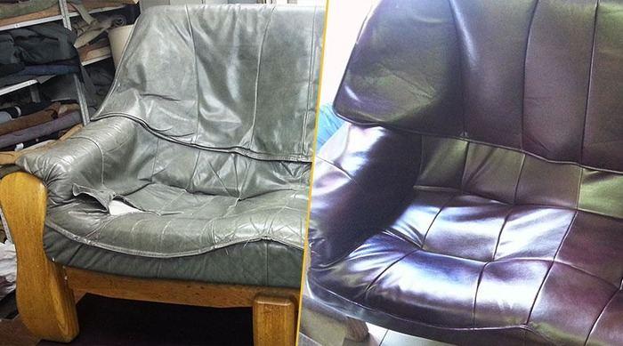 Перетяжка мягкой мебели до и после, фото 12