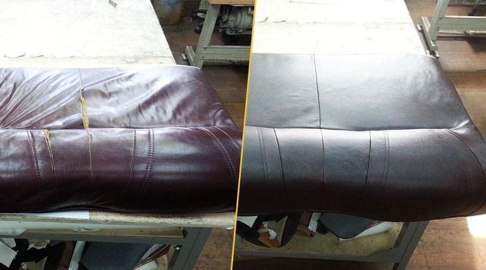Перетяжка мягкой мебели до и после, фото 13