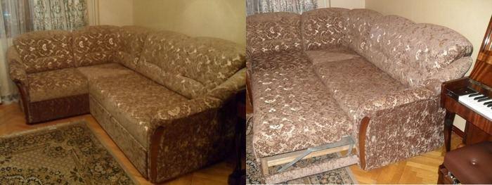 Перетяжка мягкой мебели до и после, фото 14