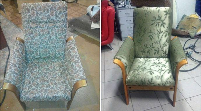 Перетяжка мягкой мебели до и после, фото 16