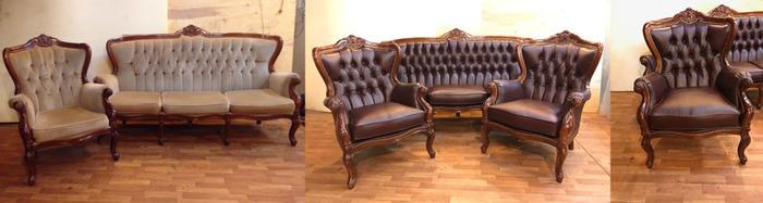 Перетяжка мягкой мебели до и после, фото 20