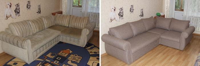 перетяжка мягкой мебели: фото 3