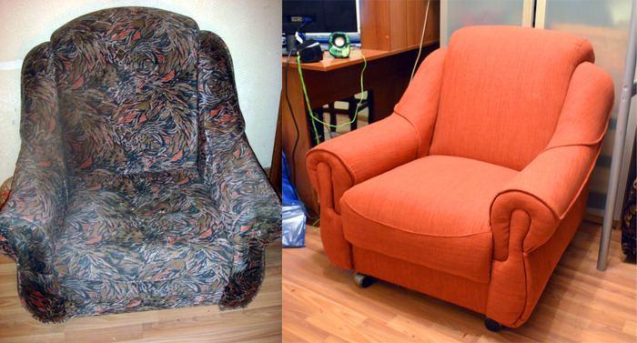 перетяжка мягкой мебели: фото 9