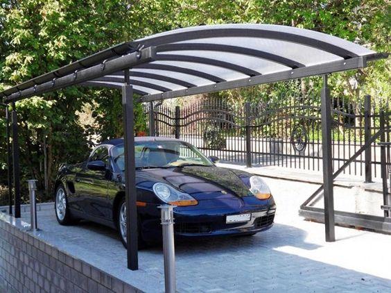 Навесы для автомобилей из поликарбоната с металлическим каркасом, фото 1