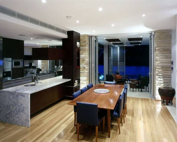 дизайн кухни гостиной в частном доме, фото 31