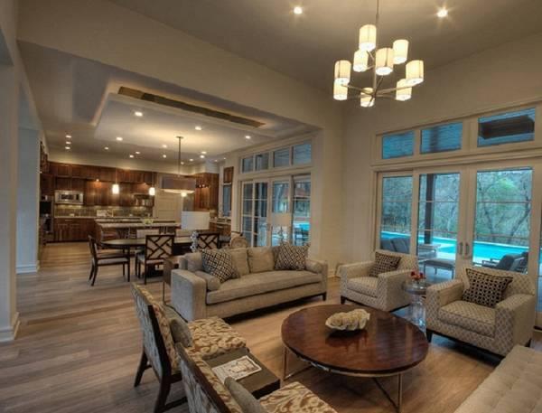 дизайн кухни гостиной в частном доме, фото 33