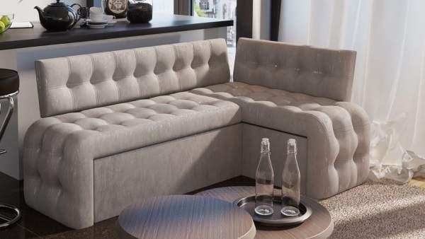 элегантный угловой диван на кухню
