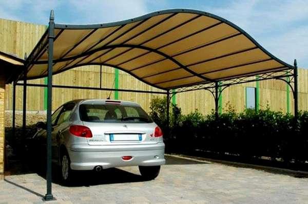 Фигурные навесы для автомобилей из поликарбоната, фото 4