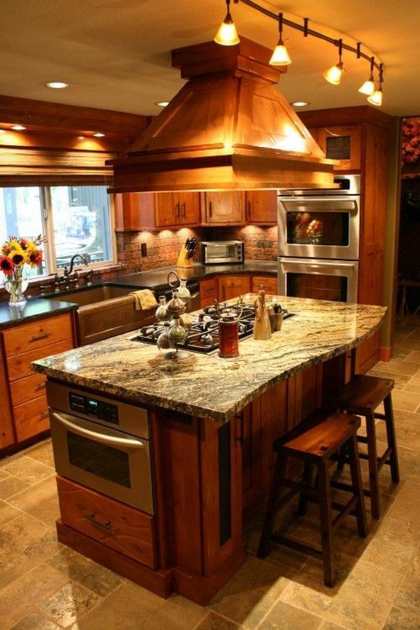 дизайн кухни из дерева фото 1