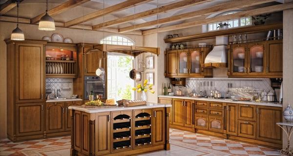 дизайн кухни из дерева фото 2