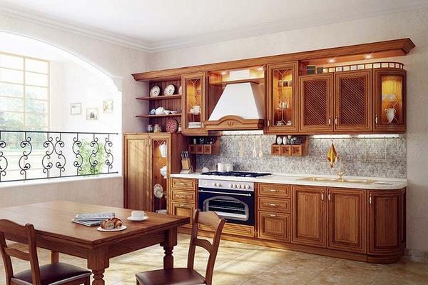 дизайн кухни из дерева фото 3