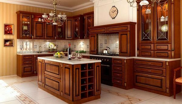 дизайн кухни из дерева фото 4