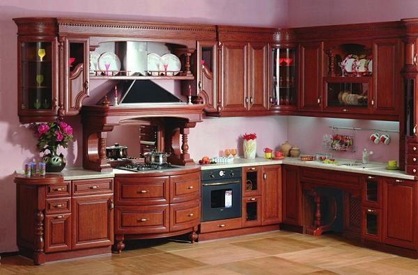 дизайн кухни из дерева фото 5