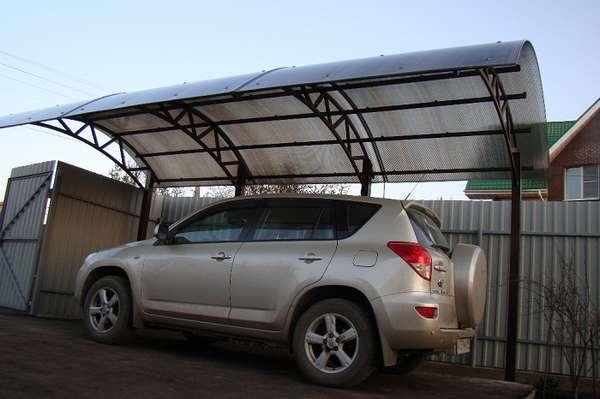 Консольные навесы для автомобилей из поликарбоната, фото 3