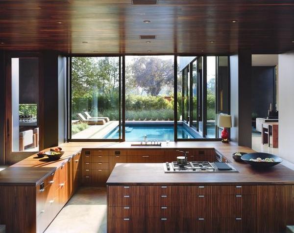 кухни из массива дерева фото 3