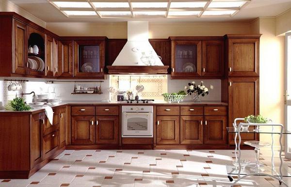 кухни из массива дерева фото 4