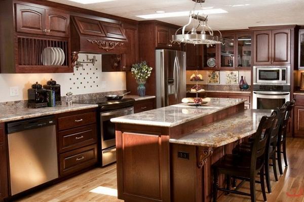 кухни из массива дерева фото 5