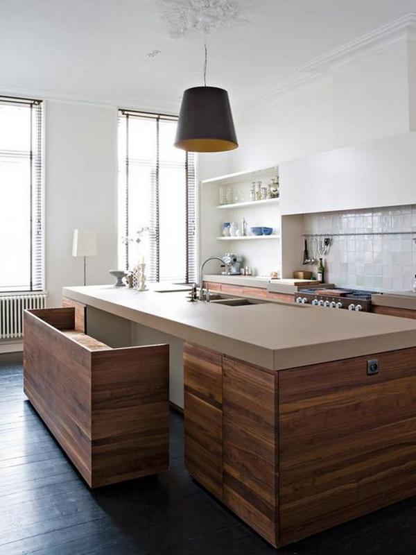 Кухни из дерева фото 2