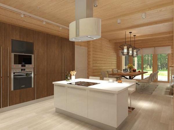 Кухни из дерева фото 4