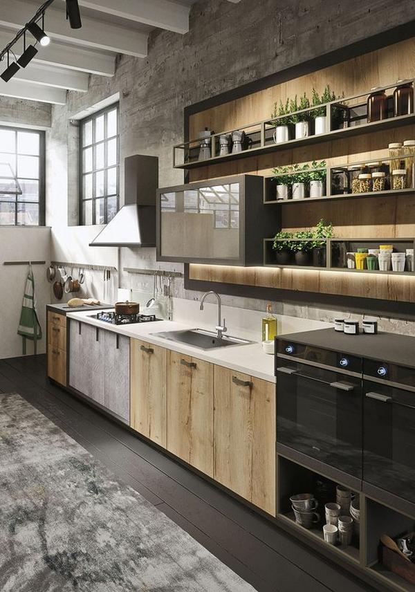 деревянные фасады для кухни, фото 5
