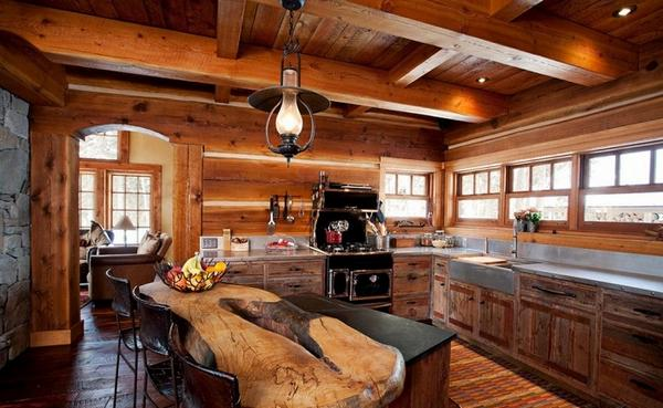 деревянные кухни фото 7
