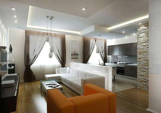 кухня гостиная с зонированием, фото 27