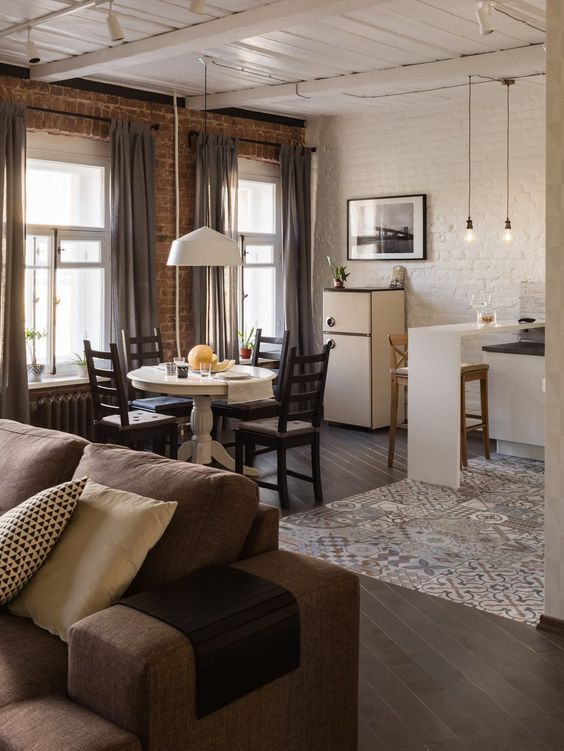 дизайн кухни гостиной в частном доме, фото 38