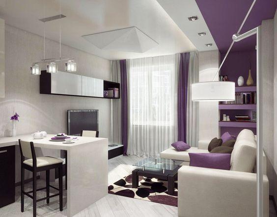 дизайн кухни гостиной, покрытия и мебель фото 9