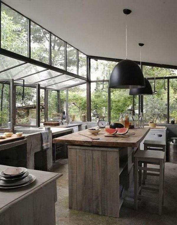 Мебель для кухни из дерева фото 1