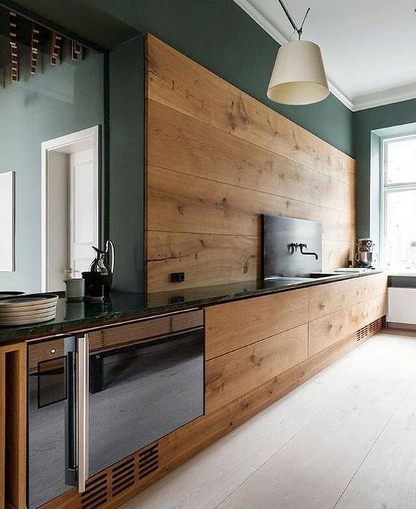 Мебель для кухни из дерева фото 3
