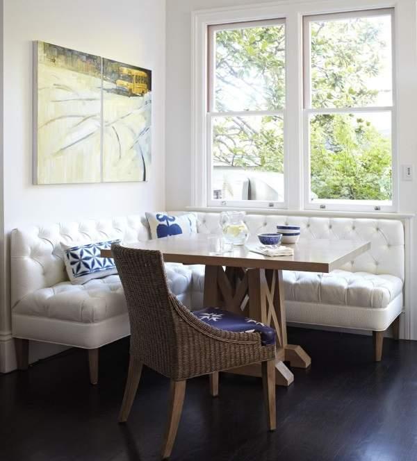 мягкий угловой диван на кухню