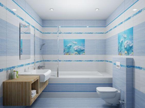 панно из плитки в ванную, фото 1