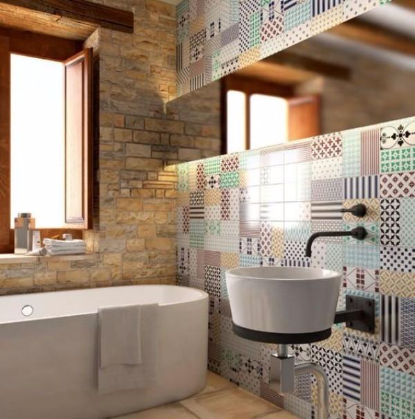 панно из плитки в ванную, фото 9