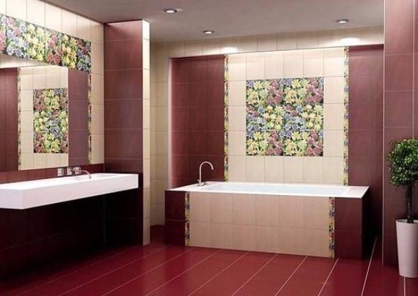 панно из плитки в ванную, фото 11