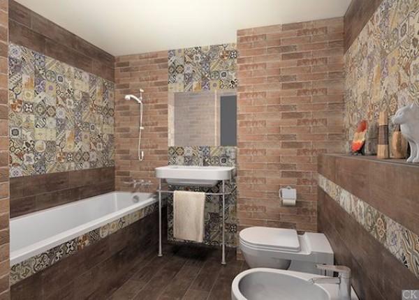 панно из плитки в ванную, фото 12