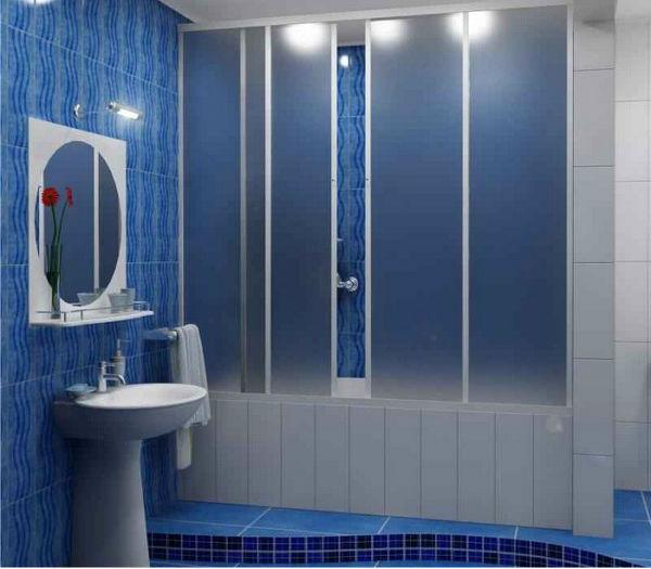 пластиковая штора для ванной, фото 2